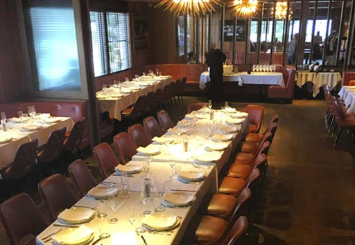 private and large group dining in a renwly renovated restaurant