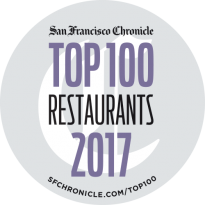 San Francisco Chronicle Top 100 Restaurants 2017