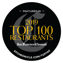 SF Chronicle 2109 Top 100 Restaurants Award